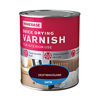 Homebase Quickdry Varnish Satin Dark Mahogany - 250ml