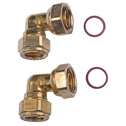 Image for Compression Bent Tap Connector - Brass - 15mm - 0.5in from StoreName
