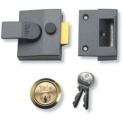 Image for Yale 85 Deadlocking Nightlatch 40mm - Grey from StoreName