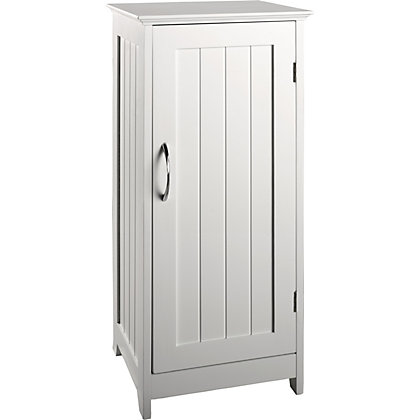 Freestanding bathroom cabinet white for White bathroom cabinets free standing