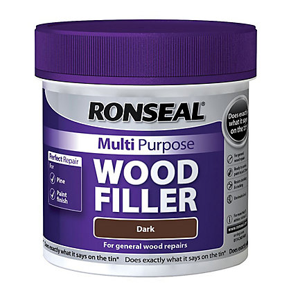 Image for Ronseal Multipurpose Wood Filler Tub - Dark - 465g from StoreName