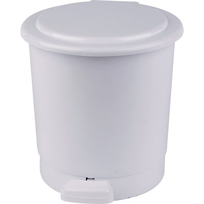 Image for Round Pedal Bin - White - 5L from StoreName