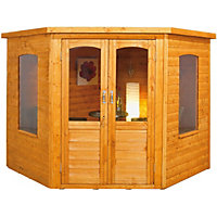 Wooden Corner Summerhouse - 7x7ft