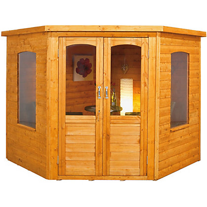 Image for Wooden Corner Summerhouse - 7x7ft from StoreName