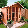 BillyOh - Morris Summerhouse with Overhang - Tongue and Groove - 5x5ft