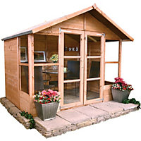 BillyOh Morris Summerhouse with Overhang  - 6ft x 8ft