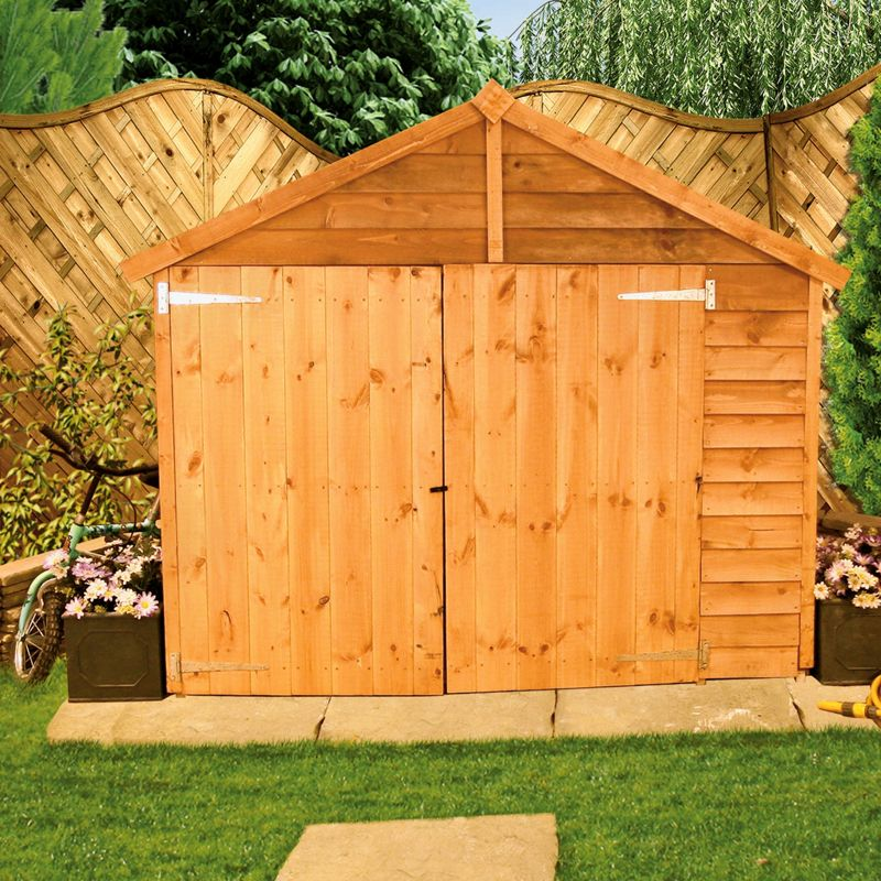 Billyoh budget traditional apex shed 5x3ft for Garden shed homebase