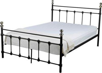 Evelyn Double Bed Frame - Black.