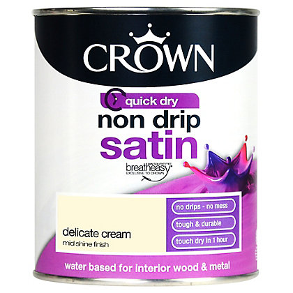 Image for Crown Breatheasy Delicate Cream - Non Drip Satin Paint - 750ml from StoreName