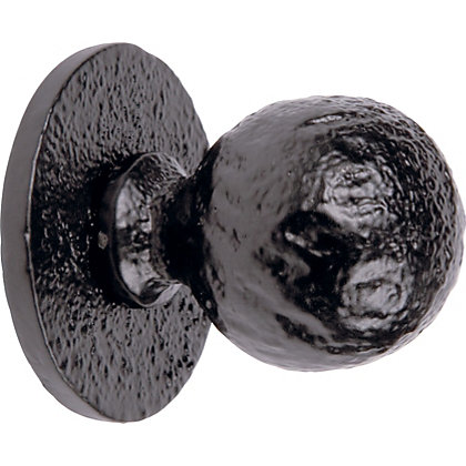 Image for Round Rose and Door Knob - Black Iron from StoreName