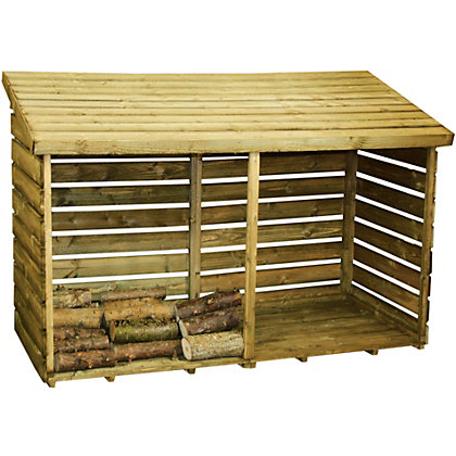 Image for Mercia Double Wooden Log Store from StoreName