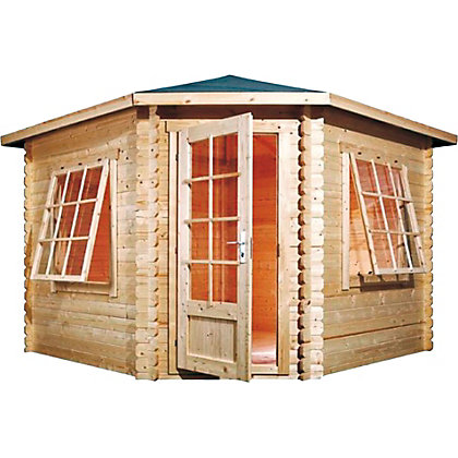 Image for Mercia Corner Log Cabin - 10ft 5in x 10ft 5in from StoreName