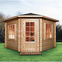 Mercia Corner Log Cabin - 13ft x 13ft