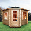 Mercia Corner Log Cabin - 14ft x 14ft
