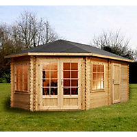 Mercia Corner Lodge Plus (Left) - 16ft x 10ft