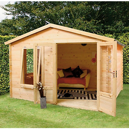Image for Mercia Sarah 19mm Log Cabin - 11ft 9in x 9ft 9in from StoreName