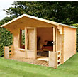Mercia Sarah 19mm Log Cabin and Veranda - 10ft 10in x 8ft 10in
