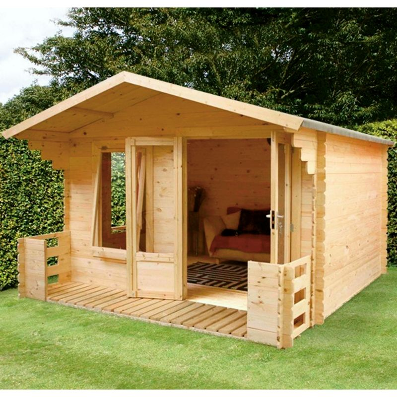 Mercia 19mm sunroom log cabin 8 x 10ft for Log cabin sunrooms