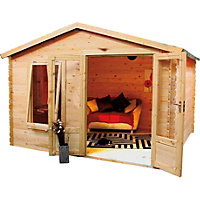 Mercia Sarah 19mm Log Cabin - 3.3m x 2.6m