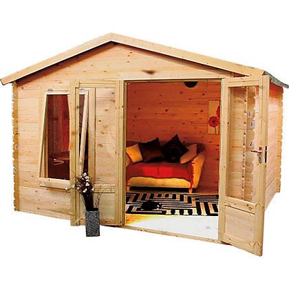 Image for Mercia Sarah 19mm Log Cabin - 11ft 3in x 8ft 10in from StoreName