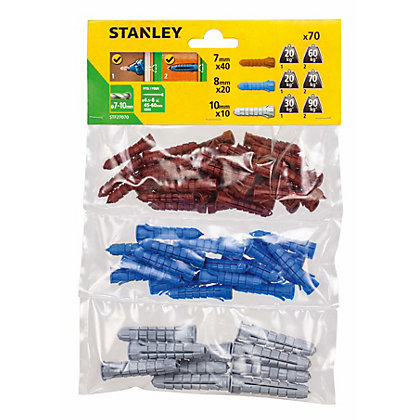 Image for Stanley Multi material plugs 7-10mm x70 - STF27070-XJ from StoreName