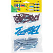 Stanley Multi material plugs and screws 7-10mm x40 - STF27040-XJ