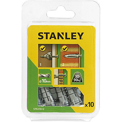 Image for Stanley Multi Material Grey Plugs And Screws X10 - STF27012-XJ from StoreName