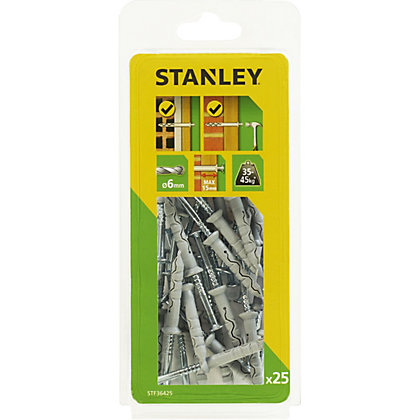 Image for Stanley 25 x Multi Fixing-Hammer-In 6 x 40mm - STF36425-XJ from StoreName