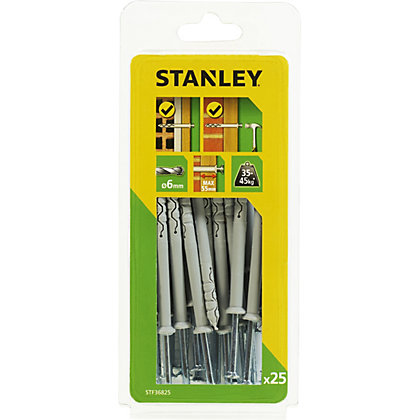 Image for Stanley 25 x Multi Fixing-Hammer-In 6 x 80mm - STF36825-XJ from StoreName