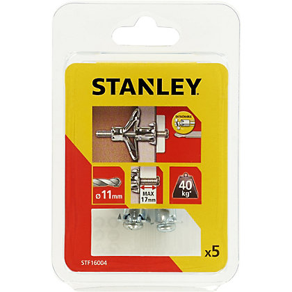 Image for Stanley 5 x Hollow Fixing-Metal 11 x 36mm - STF16004-XJ from StoreName
