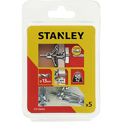 Image for Stanley 5 x Hollow Fixing-Metal 13 x 34mm - STF18004-XJ from StoreName