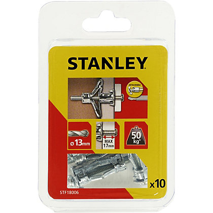 Image for Stanley 10 x Hollow Fixing-Metal 13 x 34mm - STF18006-XJ from StoreName