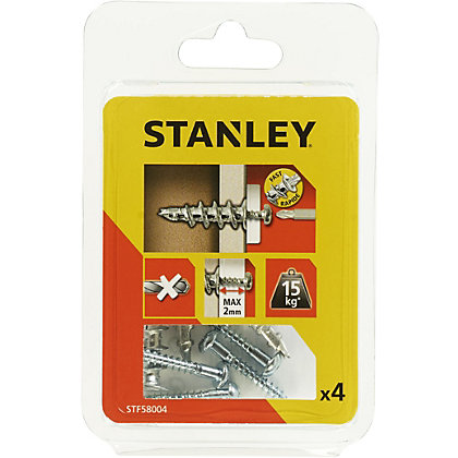 Image for Stanley 4 x Hollow Fixing-No Drilling Sting Screw - STF58004-XJ from StoreName