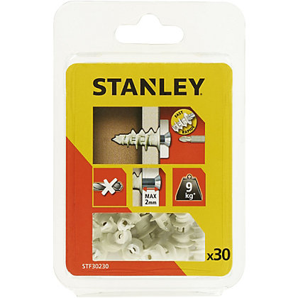 Image for Stanley 30 Nylon Sting Plugs 25mm and Screws - STF30230-XJ from StoreName