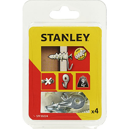 Image for Stanley 4 Nylon Sting Plugs 25mm Hook and Screws - STF30224-XJ from StoreName