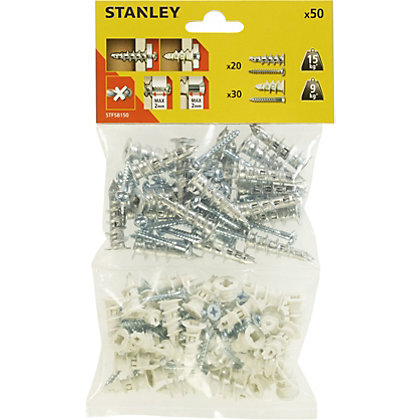 Image for Stanley Mixed Sting 20X Metal and 30X Nylon and Screws - STF58150-XJ from StoreName