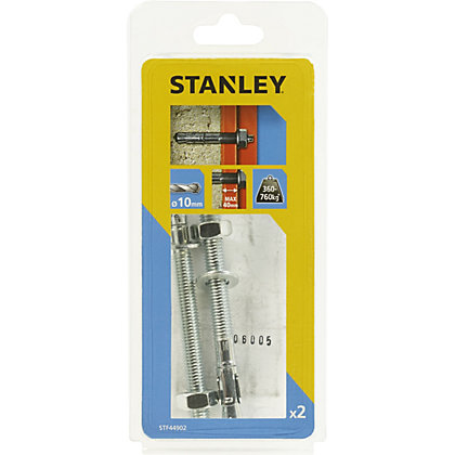 Image for Stanley 2X Solid Through bolts 10 x 120mm - STF44902-XJ from StoreName