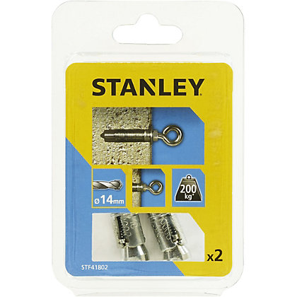 Image for Stanley 2X Solid Eye Bolts 14mm - STF41802-XJ from StoreName