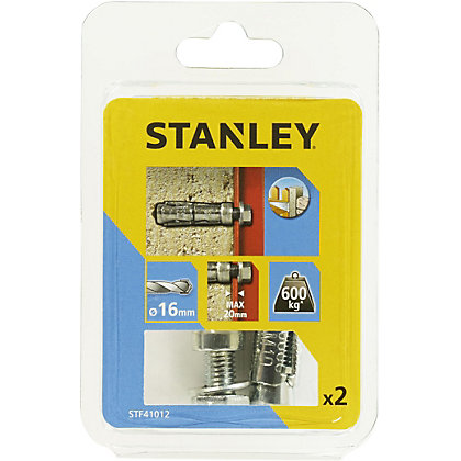 Image for Stanley 2X Solid Fixing Bolts 16 x 60mm - STF41012-XJ from StoreName