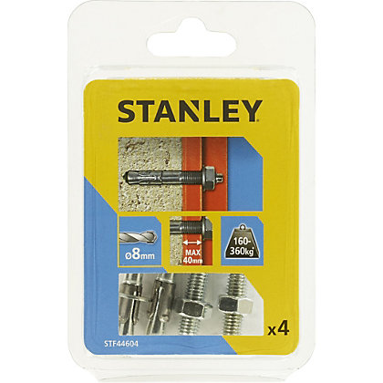 Image for Stanley 4X Solid Through bolts 8 x 90mm - STF44604-XJ from StoreName