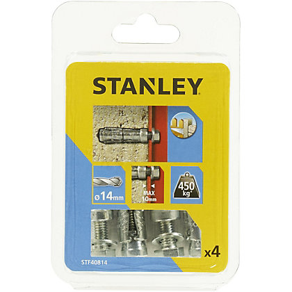 Image for Stanley 4X Solid Fixings Bolts 14 x 50mm - STF40814-XJ from StoreName