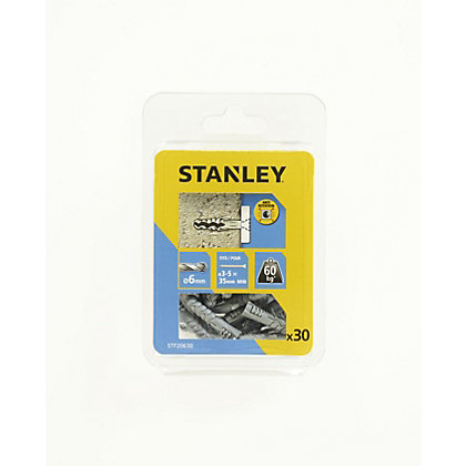 Image for Stanley 30Xsolid Nylon Plugs 6mm 6 x 30 - STF20630-XJ from StoreName