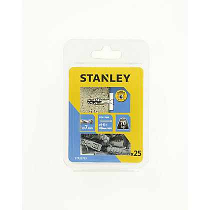 Image for Stanley 25Xsolid Nylon Plugs 7mm 7 x 30 - STF20725-XJ from StoreName