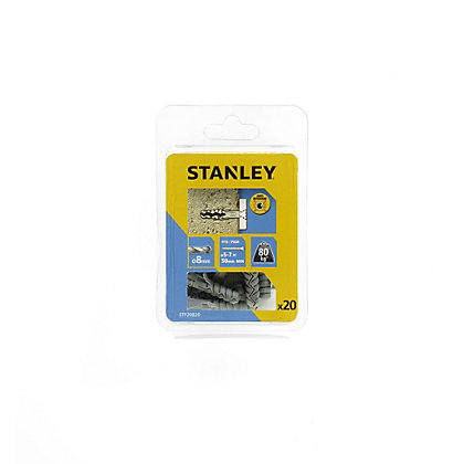 Image for Stanley 20Xsolid Nylon Plugs 8mm 8 x 40 - STF20820-XJ from StoreName