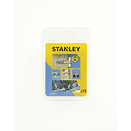 Image for Stanley 15Xsolid Nylon Plugs 6mm and Screws - STF20215-XJ from StoreName