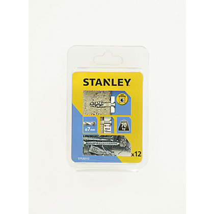 Image for Stanley 12Xsolid Nylon Plugs 7mm and Screws - STF20312-XJ from StoreName