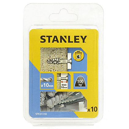 Image for Stanley 10Xsolid Nylon Plugs 10mm and Screws - STF21110-XJ from StoreName