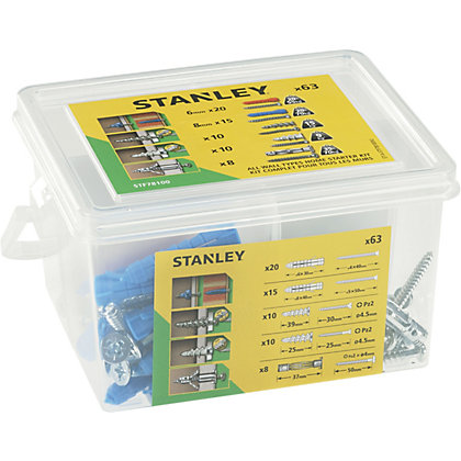 Image for Stanley Home Starter Fixings Kit x63 - STF78100-XJ from StoreName