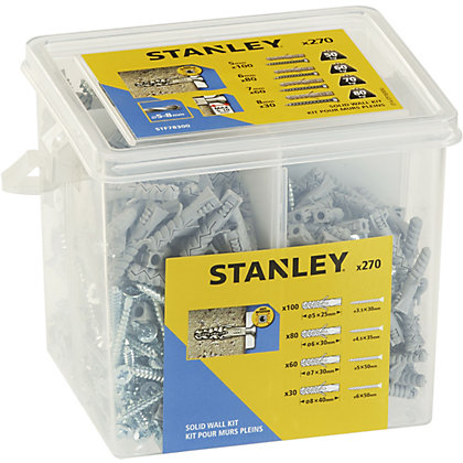 Image for Stanley Solid Nylon Plugs 5-8mm and Screws X270 - STF78300-XJ from StoreName