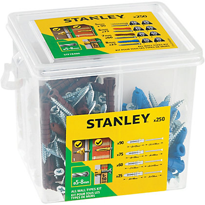 Image for Stanley Multi Mat Plugs 5-8mm & Screws x250 - STF78400-XJ from StoreName